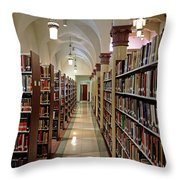 Aisles Of Books Throw Pillow