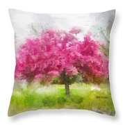 Aistra Pavasario Throw Pillow