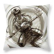 Aitutaki Fire Dancer Throw Pillow by Judith Kunzle