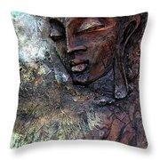 Ajanta Buddha 2 Throw Pillow