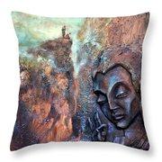 Ajanta Buddha Throw Pillow