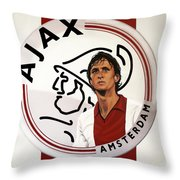Ajax Amsterdam Painting Throw Pillow