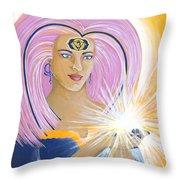 Ajna Third Chakra Goddess Throw Pillow