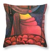 Akara Woman Throw Pillow