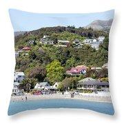 Akaroa Resort Town Throw Pillow