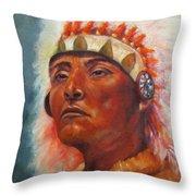 Akecheta, Native American Throw Pillow