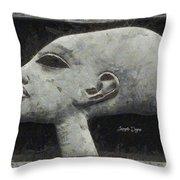 Akhenaten Was Among Us Throw Pillow