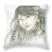 Akinik Throw Pillow