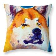 Akita - Apricot Throw Pillow