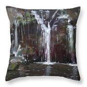 Akron Falls Throw Pillow