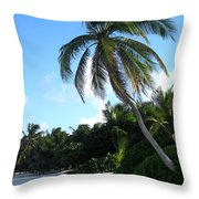 Akumal Sur Beach 01 Throw Pillow
