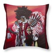 Akwesasne Mohawk Throw Pillow