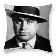 Al Capone Mugshot Painterly Throw Pillow