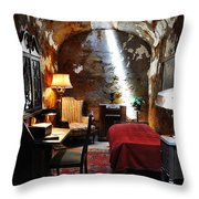 Al Capone's Cell - Eastern State Penitentiary Throw Pillow