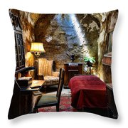 Al Capone's Cell - Scarface - Eastern State Penitentiary Throw Pillow