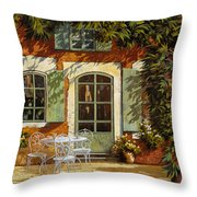 Al Fresco In Cortile Throw Pillow