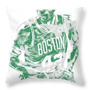Al Horford Boston Celtics Pixel Art 6 Throw Pillow