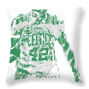 Al Horford Boston Celtics Pixel Art 7 Throw Pillow