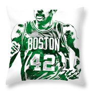 Al Horford Boston Celtics Pixel Art Throw Pillow
