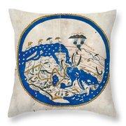 Al-idrisi's World Map Throw Pillow