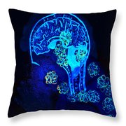 Al In The Mind Black Light View Throw Pillow