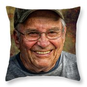 Al On The River Throw Pillow