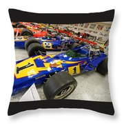 Al Unser Winning Cars At Indianapolis Throw Pillow