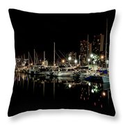 Ala Wai Boat Harbor II Throw Pillow