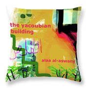 Alaa Al Aswany Poster  Throw Pillow