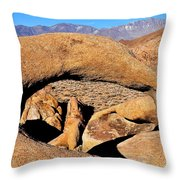 Alabama Hills Arches Throw Pillow