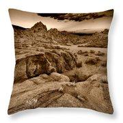 Alabama Hills California B W Throw Pillow