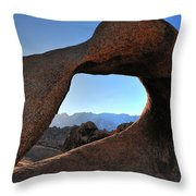 Alabama Hills Window Throw Pillow