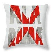 Alabama Typography Map Flag Throw Pillow