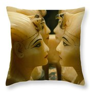 Alabaster Carvings Found In The Tomb Throw Pillow by Kenneth Garrett