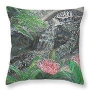 Alameda Gardens, Gibraltar Throw Pillow