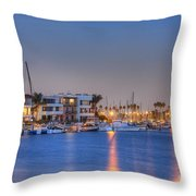 Alamitos Bay Inlet Throw Pillow
