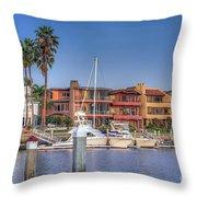 Alamitos Bay Naples 3 Throw Pillow