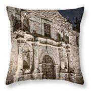Alamo Door Throw Pillow
