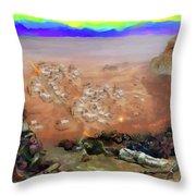 Alamo Frontiersmen Throw Pillow