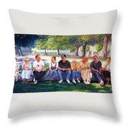 Alamo Pilgrims Throw Pillow
