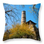 Alamo Portland Cement Factory II Throw Pillow