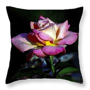 Alan Rose Throw Pillow