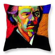 Alan Watts Portrait Throw Pillow