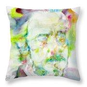 Alan Watts - Watercolor Portrait.3 Throw Pillow
