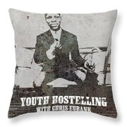 Alan Youth Hostelling Chris Eubank Throw Pillow
