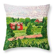 Aland Landscape Throw Pillow