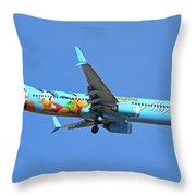 Alaska 737-990 N318as Spirit Of Disneyland Phoenix Sky Harbor November 27 2017 Throw Pillow
