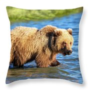 Alaska Bear Throw Pillow