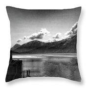 Alaska Black  Throw Pillow