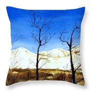 Alaska Blue Sky Day  Throw Pillow